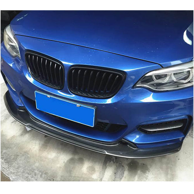 For BMW 2 Series F22 F23 M Sport 2-Door 14-19 Carbon Fiber Front Bumper Lip Chin Spoiler Splitter
