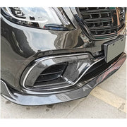 For Mercedes Benz W222 S63 S65 AMG Sedan 18-20 Carbon Fiber Front Bumper Fog Light Air Vent Cover