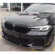 For BMW 5 Series G30 M Sport M550i xDrive Sedan 2021UP Carbon Fiber Front Bumper Lip Chin Spoiler