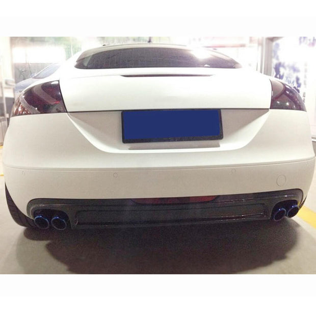 For Audi TT MK2 8J 2-Door 08-10 Carbon Fiber Rear Bumper Diffuser Body Kit