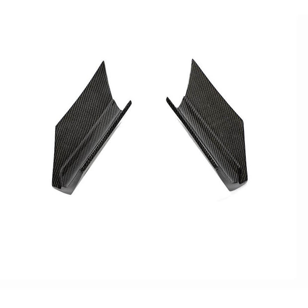 For BMW X6 F16 Base Sport Utility 15-19 Carbon Fiber Rear Bumper Splitter Cupwing Winglets Vent Flaps