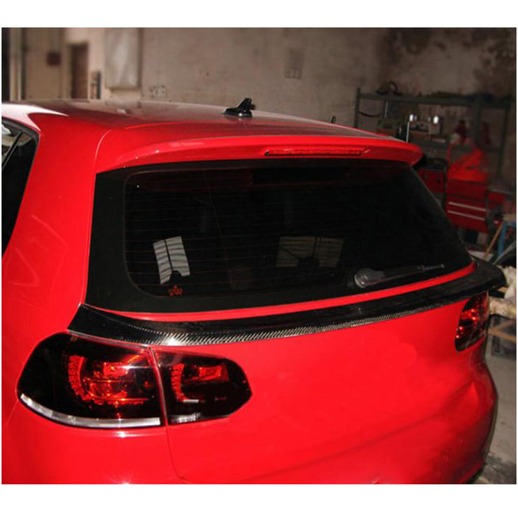 For Volkswagen VW Golf 6 MK6 GTI R/R20 Hatchback 10-13 Carbon Fiber Rear Middle Spoiler Window Wing Lip
