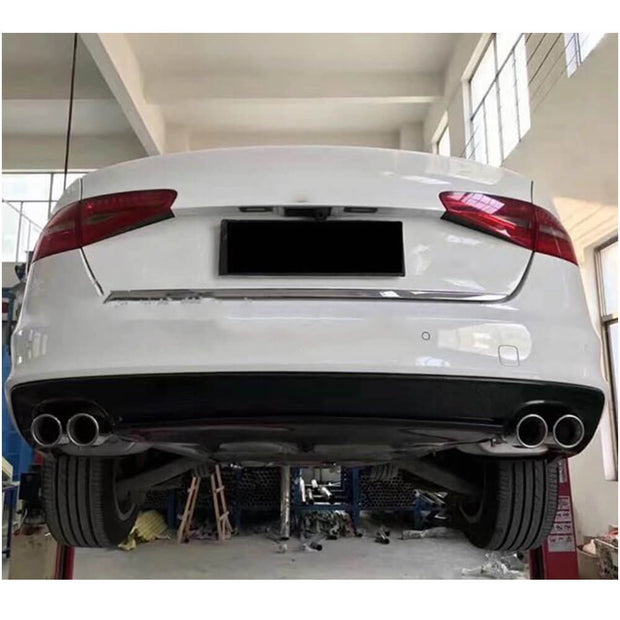 For Audi S4 A4 B8.5 Sline Sedan 13-16 Carbon Fiber Rear Bumper Diffuser Body Kit