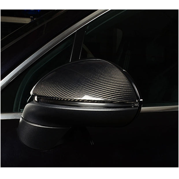For Porsche Cayenne Sport Utility 18-21 Carbon Fiber Side Rearview Mirror Cover Caps Pair