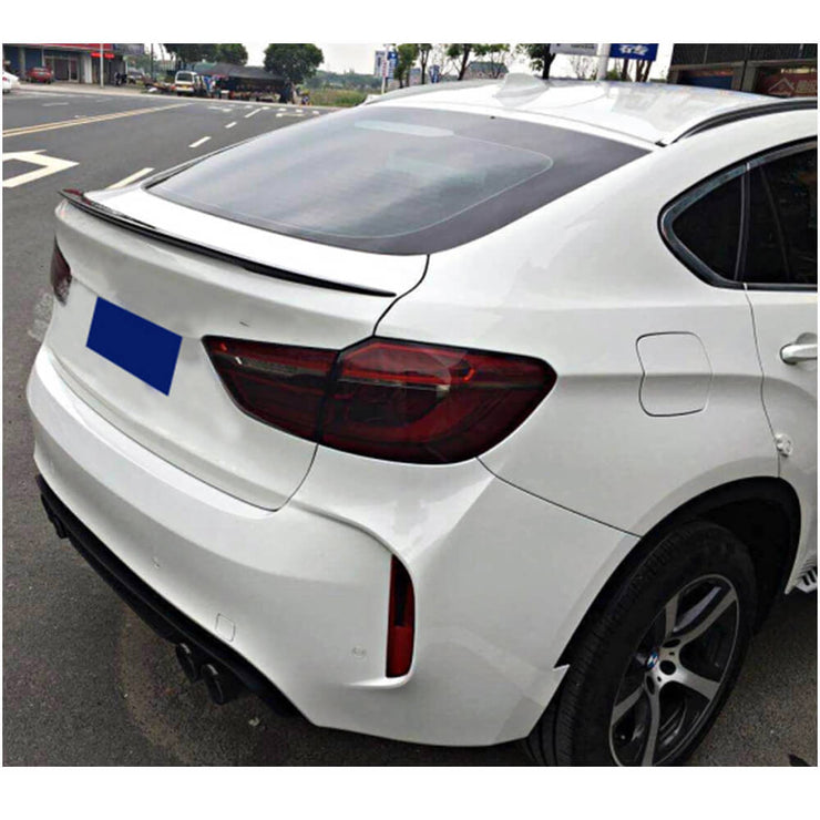 For BMW X6 E71 Sport Utility 08-14 Carbon Fiber Rear Trunk Spoiler Boot Wing Lip