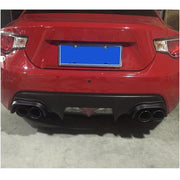 For Subaru BRZ Toyota GT86 FT86 Scion FR-S Carbon Fiber Rear Bumper Exhaust Pipe Cover Trims