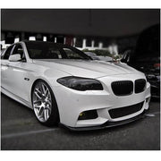 For BMW 5 Series F10 M Sport Sedan 12-16 Carbon Fiber Front Bumper Lip Chin Spoiler Body Kit