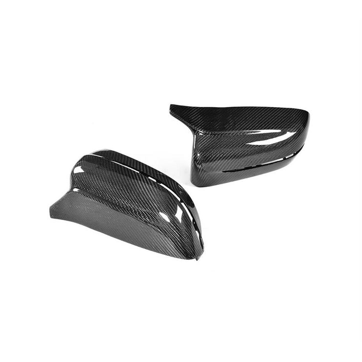 For BMW G30 G11 G14 G15 G16 18-19 Carbon Fiber Side Rearview Mirror Cover Caps RHD Pair