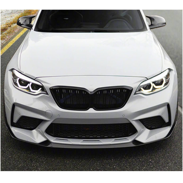For BMW 2 Series F87 M2 Competition M2C Coupe 18-20 Carbon Fiber Front Bumper Lip Chin Spoiler Body Kit