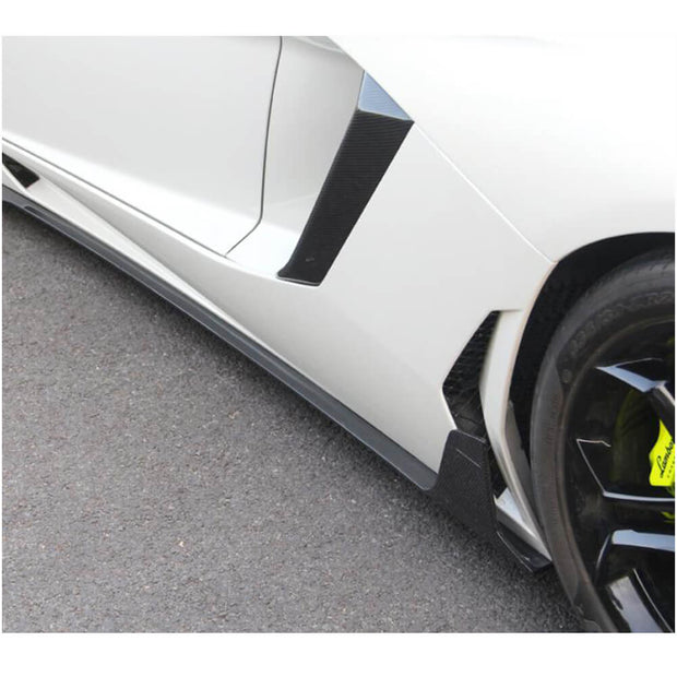 For Lamborghini Aventador LP700-4 11-16 Carbon Fiber Side Air Fender Vent Cover Body Kits