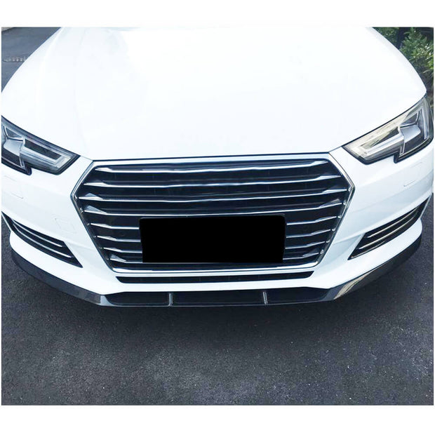 For Audi A4 B9 Base Sedan 17-20 Carbon Fiber Front Bumper Lip Chin Spoiler Body Kit