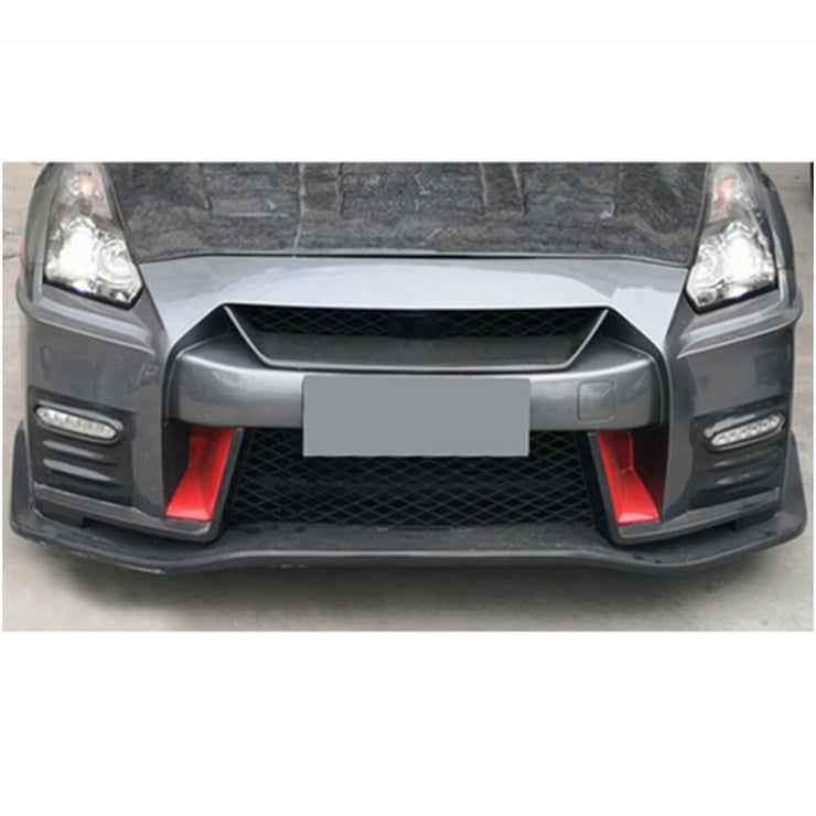 For Nissan GTR GT-R Base Coupe 17-19 Dry Carbon Fiber Front Grill Mesh Trim