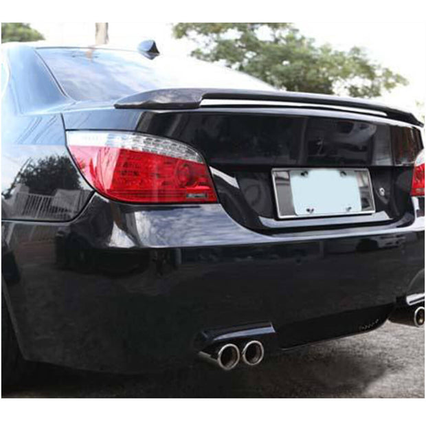For BMW 5 Series E60 M5 Sedan 04-10 Carbon Fiber Rear Trunk Spoiler Boot Wing Lip