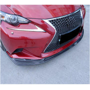 For Lexus IS250 IS350 F Sport Sedan 13-15 Carbon Fiber Front Bumper Lip Chin Spoiler Body Kit