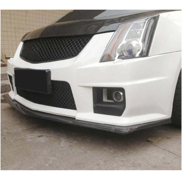 For Cadillac CTS-V Coupe 09-15 Carbon Fiber Front Bumper Lip Chin Spoiler Body Kit