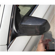 For BMW 5 Series F10 Base Sedan Pre-LCI 10-13 Carbon Fiber Add-on Side Rearview Mirror Cover Caps Pair