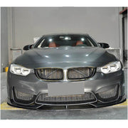 For BMW F80 M3 F82 F83 M4 14-19 Carbon Fiber Front Bumper Lip Chin Spoiler Body Kit
