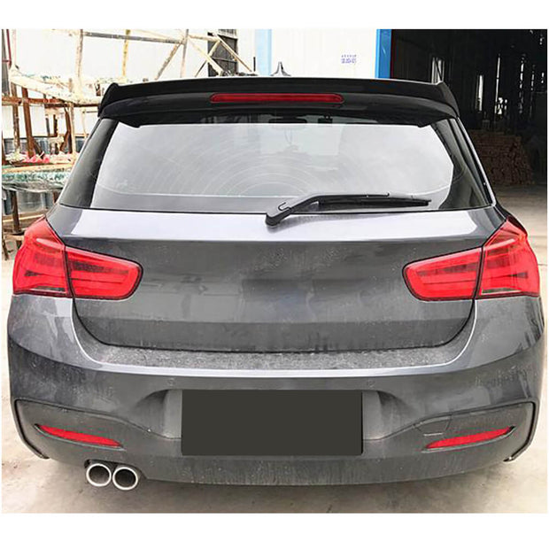 For BMW 1 Series F20 F21 Hatchback 12-19 Carbon Fiber Rear Roof Spoiler Window Wing Lip