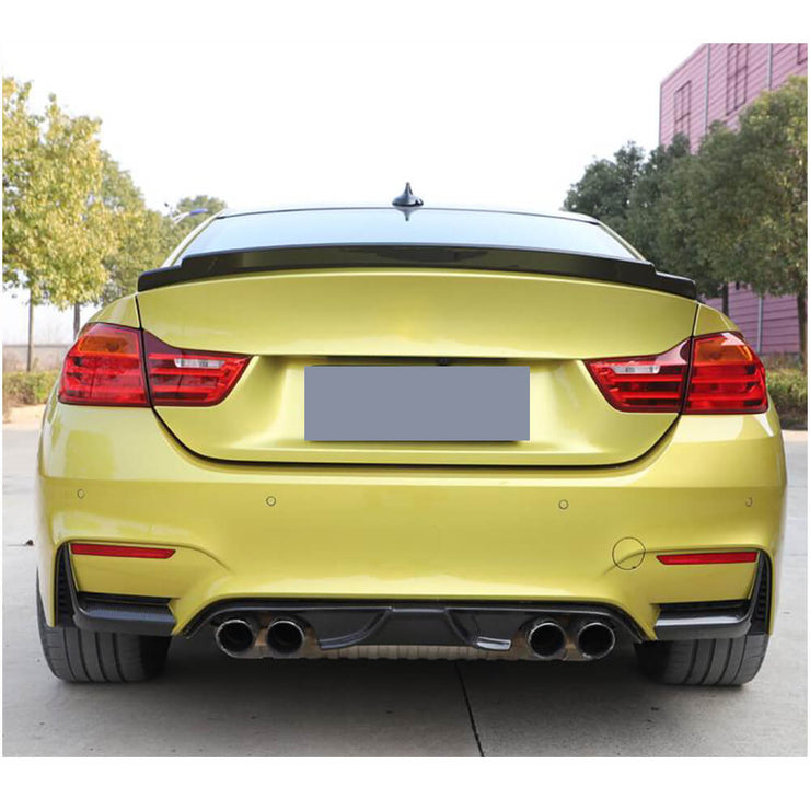 For BMW F80 M3 F82 F83 M4 14-19 Dry Carbon Fiber Rear Bumper Splitters Lip Apron