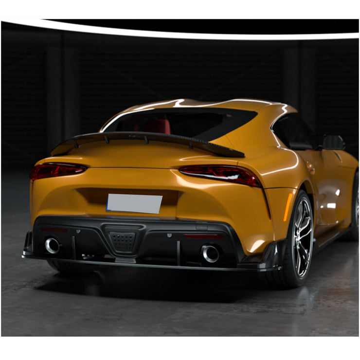 For Toyota Supra J29 Coupe 19-20 Carbon Fiber Rear Bumper Diffuser Body Kit