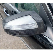 For Mercedes Benz W204 Sedan Pre-facelift 08-11 Carbon Fiber Side Rearview Mirror Cover Caps Grame Pair