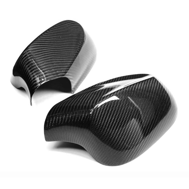 For BMW 1 Series E81 E87 E82 E88 2-Door 3-Door 5-Door LCI 2009-2013 Carbon Fiber Side Rearview Mirror Cover Caps Pair