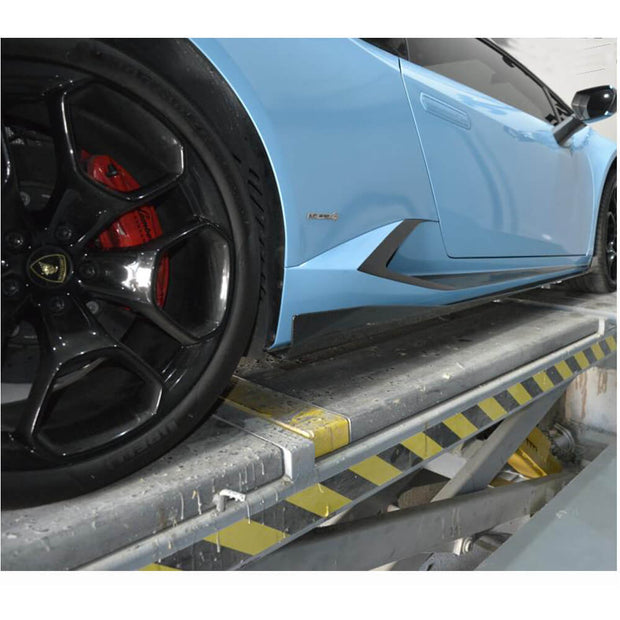 For Lamborghini Huracan 14-18 Carbon Fiber Side Skirts Door Rocker Panels Extension Lip
