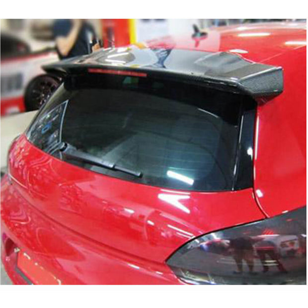 For Volkswagen VW Scirocco Base Hatchback Non-R 08-14 Carbon Fiber Rear Roof Spoiler Window Wing Lip