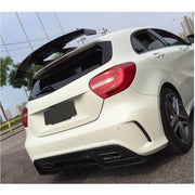 For Mercedes Benz W176 Hatchback 13-18 Carbon Fiber Rear Spoiler Roof Window Wing Lip