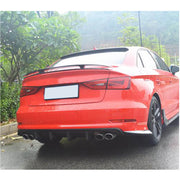 For Audi S3 A3 Sline Sedan 14-16 Carbon Fiber Rear Bumper Diffuser Lip