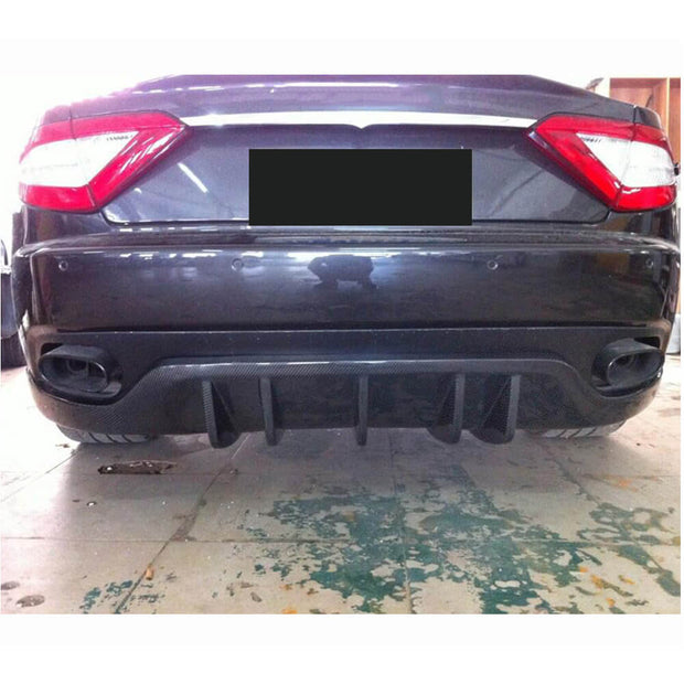 For Maserati Gran Turismo 2-Door 08-13 Carbon Fiber Rear Bumper Diffuser Body Kit