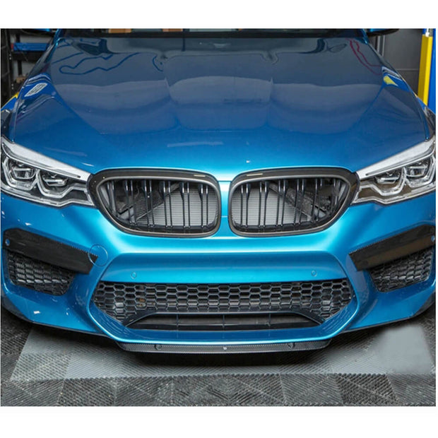 For BMW 5 Series F90 M5 Sedan 18-20 Dry Carbon Fiber Front Bumper Fog Light Cover Splitter Trims