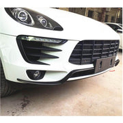 For Porsche Macan Base Sport Utility 14-17 Carbon Fiber Front Bumper Air Vent Fins Canards Body Kits