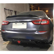 For Maserati Quattroporte QP S Q4 Sedan 13-16 Carbon Fiber Rear Bumper Diffuser Body Kit