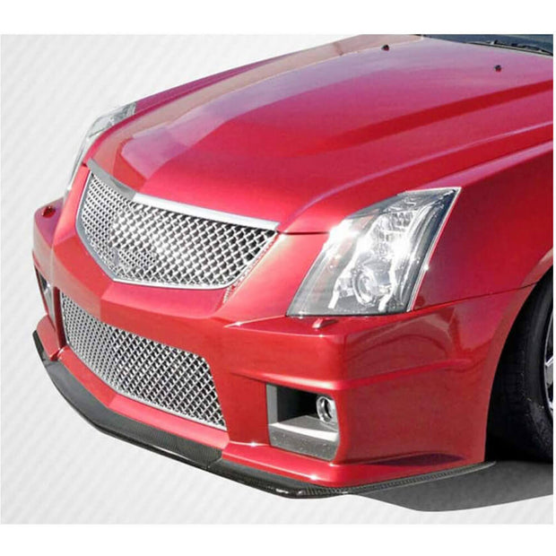 For Cadillac CTS-V Coupe 09-15 Carbon Fiber Front Bumper Splitter Cupwing Winglets Vent Flaps