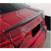 For Audi A5 B8 B8.5 Base Coupe 08-16 Carbon Fiber Rear Trunk Spoiler Boot Wing Lip