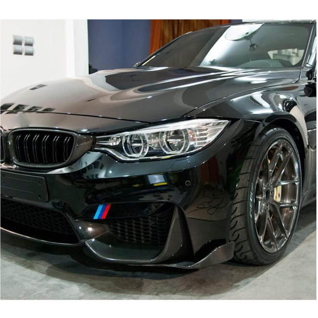 For BMW F80 M3 F82 F83 M4 14-19 Carbon Fiber Front Bumper Splitter Cupwing Winglets Vent Flaps