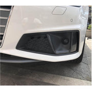 For Audi S4 A4 B9 Sline Sedan 17-20 Carbon Fiber Front Fog Lamp Air Vents Trims
