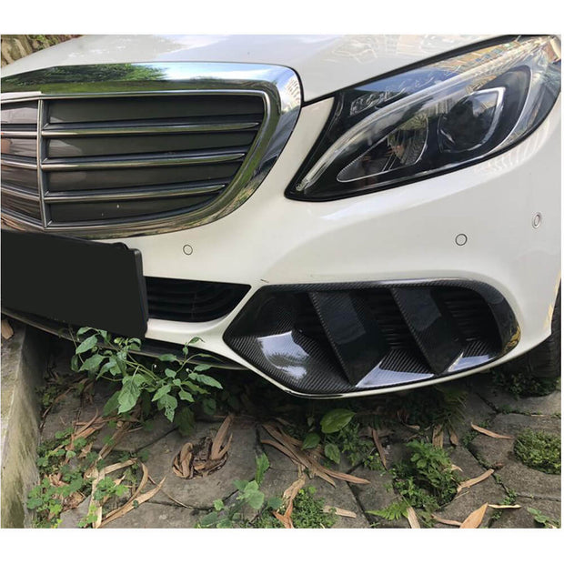 For Mercedes Benz W205 Base Sedan 15-19 Carbon Fiber Fog Light Trim Decoration