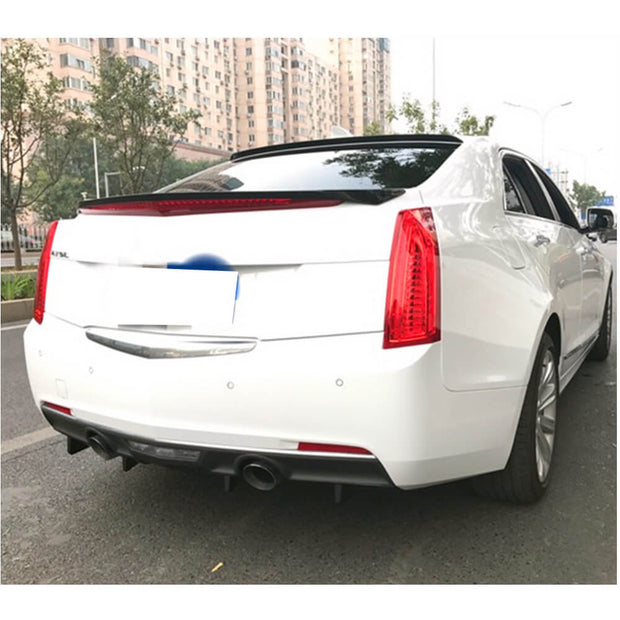 For Cadillac ATS Sedan 13-19 Carbon Fiber Rear Trunk Spoiler Boot Wing Lip