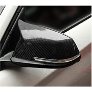 For BMW F07 F10 F06 F12 F13 F01 F02 F03 F04 Carbon Fiber Side Rearview Mirror Cover Caps Pair