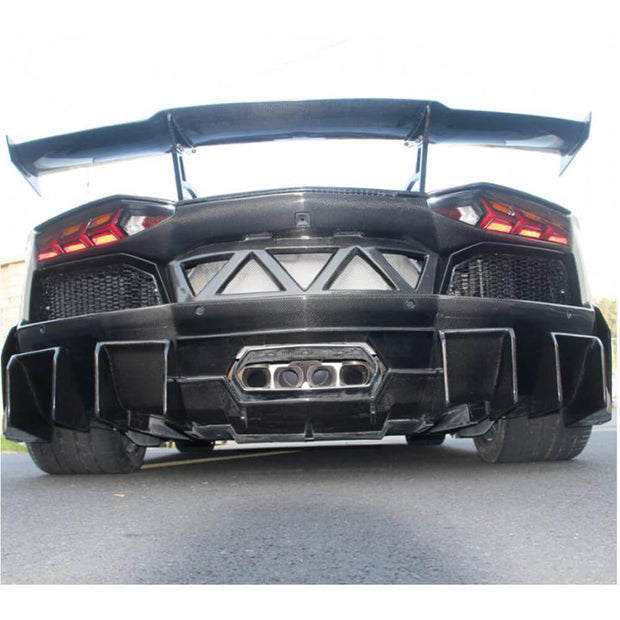 For Lamborghini Aventador LP700-4 11-16 Carbon Fiber Rear Bumper Body Kit 13Pcs