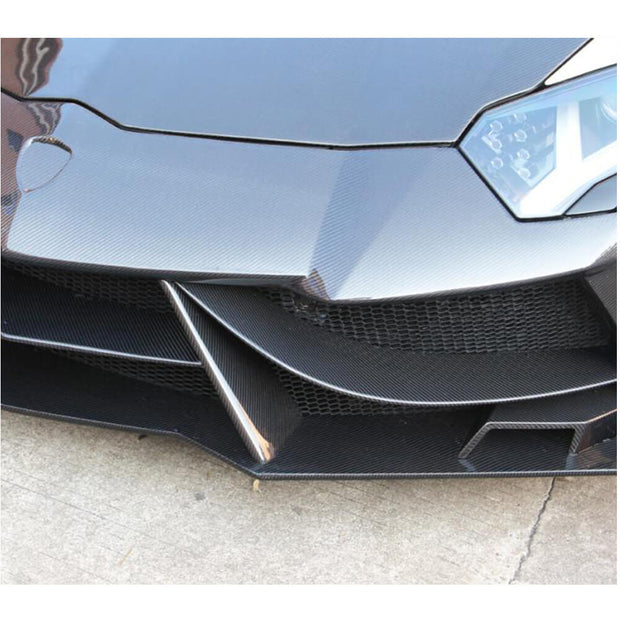 For Lamborghini Aventador LP700-4 11-16 Carbon Fiber Front Bumper Body Kit 15Pcs