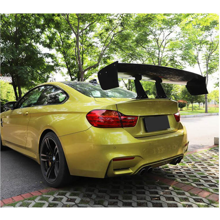 Universal Sedan Car Auto Carbon Fiber Rear Trunk Spoiler Boot Wing Lip