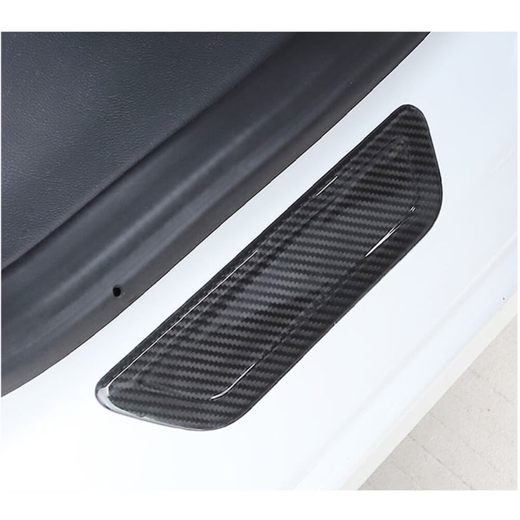 For Tesla Model 3 Sedan 16-20 Carbon Fiber Door Threshold Cover Strip Trims