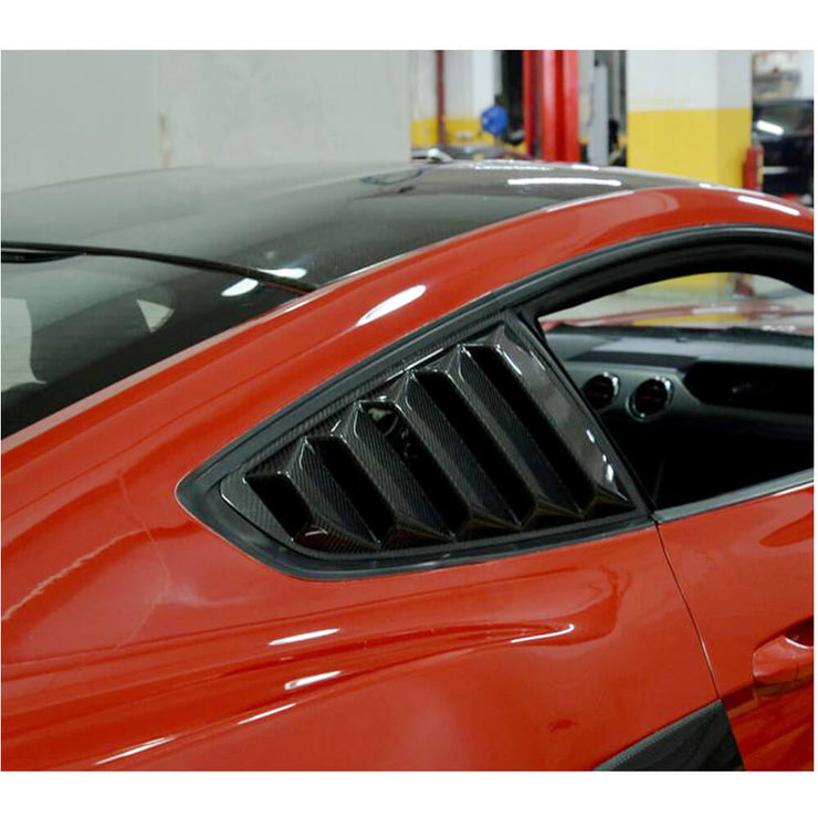 For Ford Mustang 2-Door 15-17 Carbon Fiber Rear Window Vents
