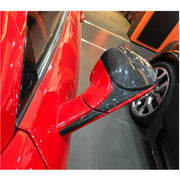 For Ferrari 458 Italia Base Coupe Spider Convertible 11-16 Carbon Fiber Side Rearview Mirror Cover Caps Pair