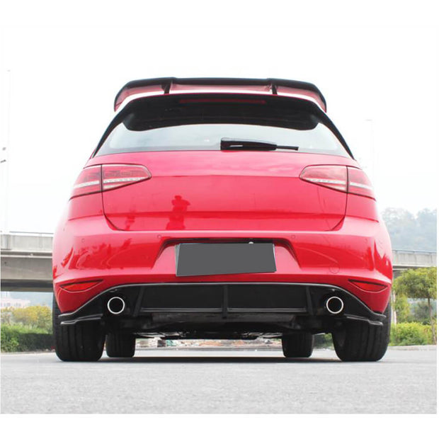 For Volkswagen VW Golf 7 7.5 MK7 MK7.5 GTI R Hatchback 14-19 Carbon Fiber Rear Roof Spoiler Window Wing Lip