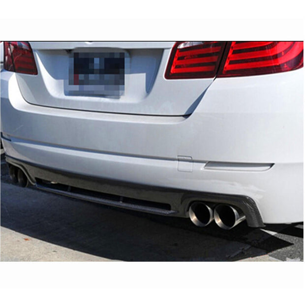 For BMW 5 Series F10 M Sport Sedan 12-16 Carbon Fiber Rear Bumper Diffuser Lip