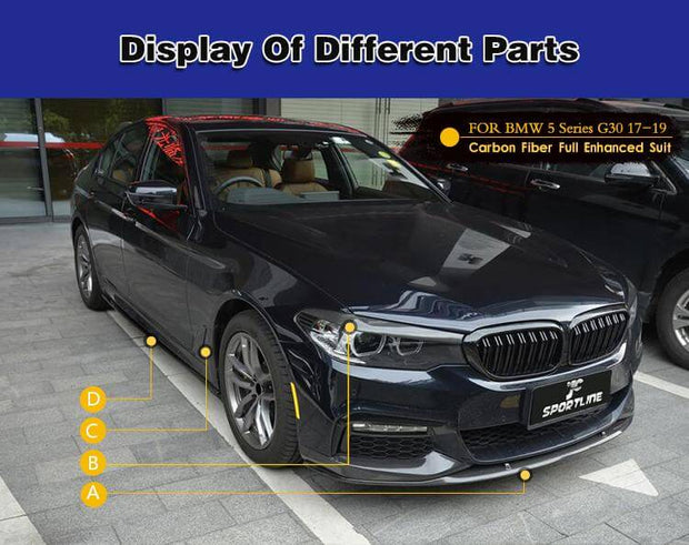 For BMW 5 Series G30 M Sport Sedan 17-20 Auto Carbon Fiber Package Wide Body Kit